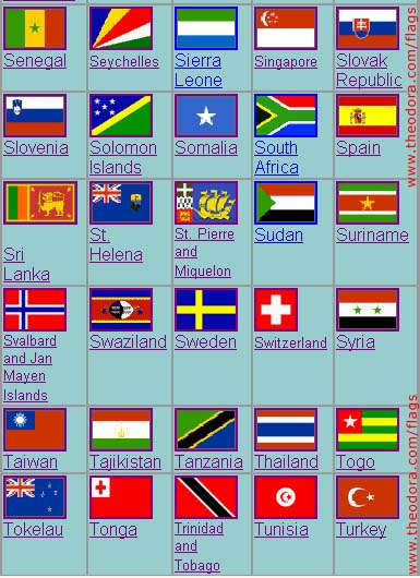 All flags on 8 short printable pages: