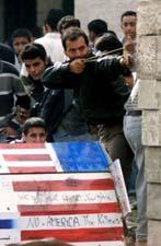 Burning the American flag in Bethlehem