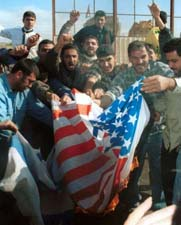 Burning the American flag in Lebanon