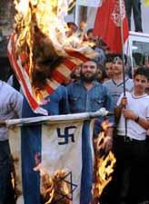 Burning the American flag in Lebanon