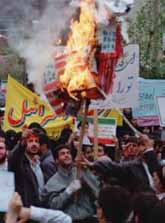 Burning the American flag in Iran