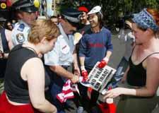 American flag desecration in Australia