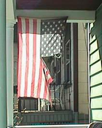 Deteriorating USA Flag in New York
