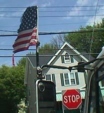 Deteriorating American Flag in New York