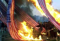 Burning the American Flag in Korea