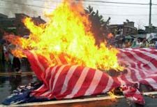 Burning the USA Flag in Korea