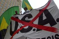 Anti-USA protest in Brazil