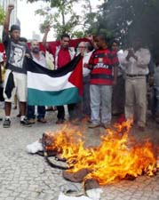 American flag burning in Brazil