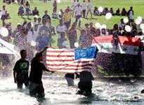 American flag desecration in Brazil