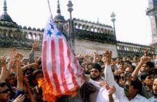 American flag desecration in India