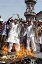 Burning the USA flag in India