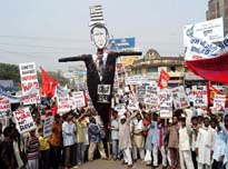 Anti-USA protest in India