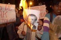Anti-USA protest in Bolivia
