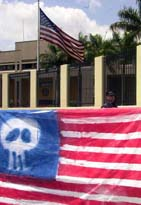 American flag desecration in Costa Rica