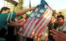 Burning the American flag in The United Arab Emirates