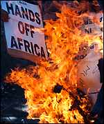 Burning the US Flag in South Africa