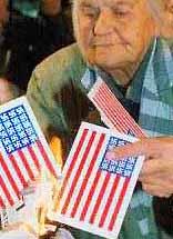 Swastikas on US flags in FYR Macedonia