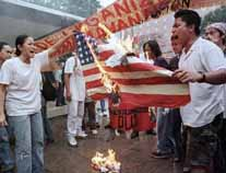 Burning the U.S. flag in the Philippines