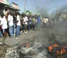 Flag burning caused a fire in Haiti