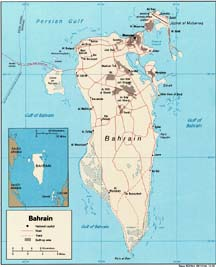 small map of Bahrain
