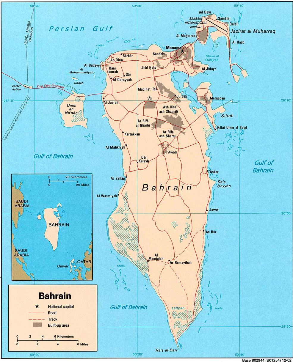 Bahrain Flag Map