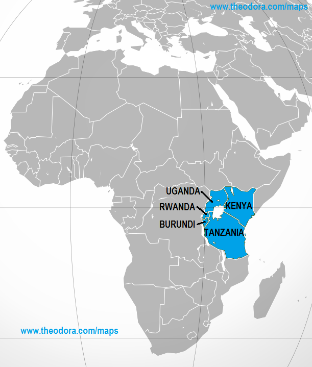Map Of East Africa Showing Countries.Map Of Eastern Africa Jackenjuul