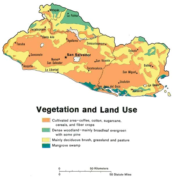 This map of el salvador is intended for representational purposes and