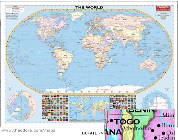 Giant Deluxe Laminated Wall Map Of The World 108 X78 2 74m X 2m