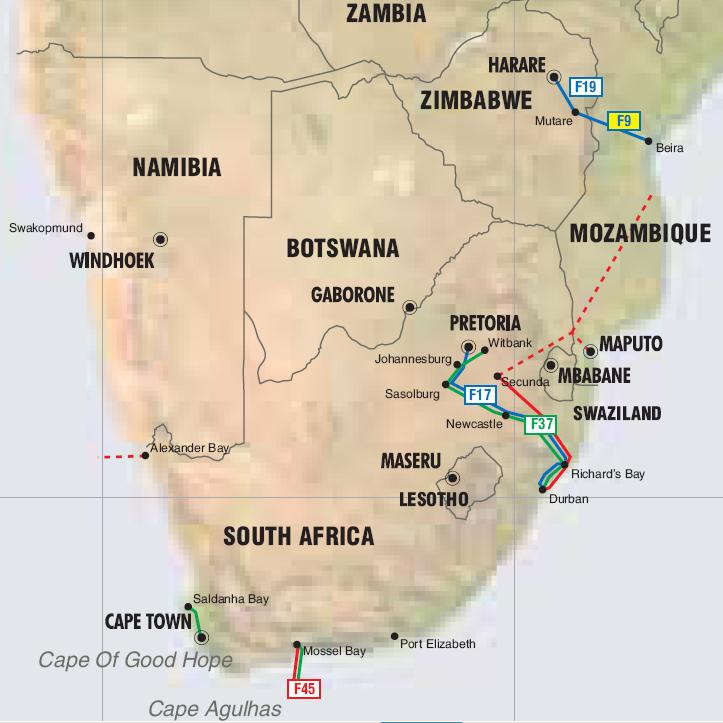 Map Of Africa Zimbabwe.South Africa Mozambique And Zimbabwe Pipelines Map Crude Oil