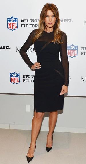 39a73267df1 Melania Trump Little Black Dress Melania Trump rocked a long-sleeved sheer  LBD that showed
