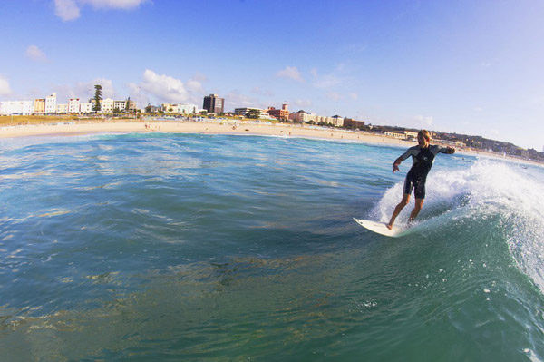Surfing at Bondi beach, Sydney, Australia Photo