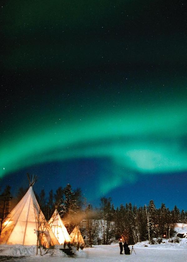 Aurora Borealis (northern Lights), Yellowknife, Northwest Territories,  Canada Photo