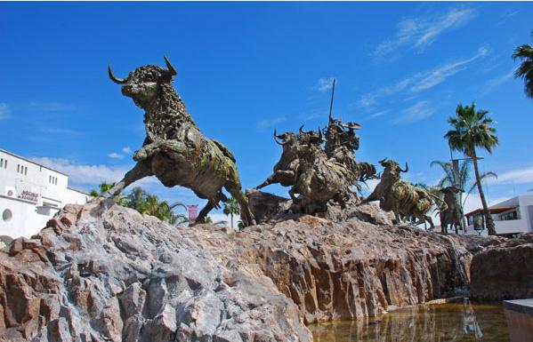 el encierro sculpture  aguascalientes  mexico photo