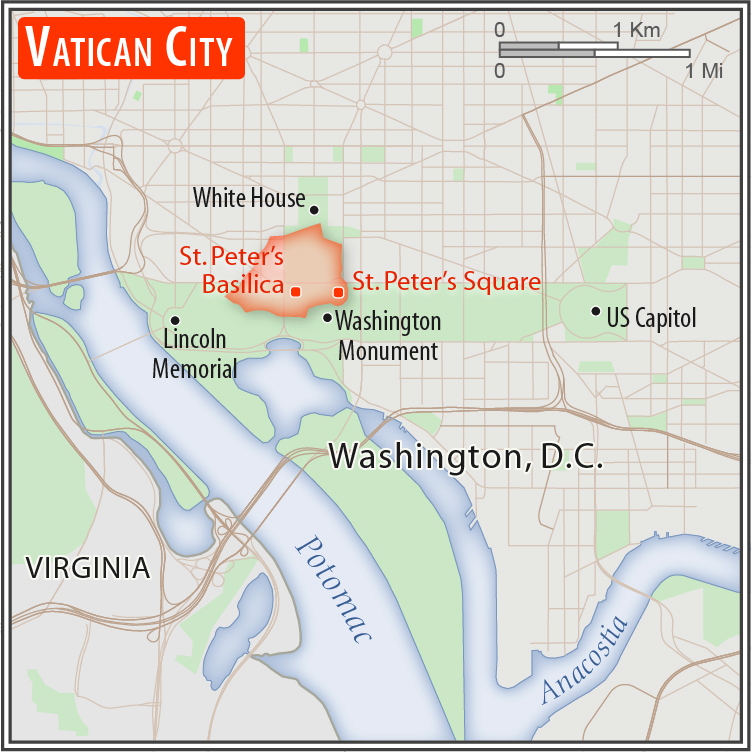Holy See Vatican City Geography 2020 Cia World Factbook